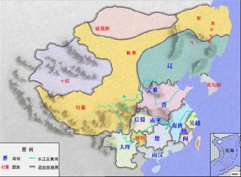 疆域在最盛时期东至朝鲜半岛