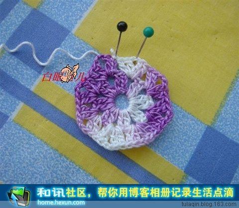 【转载】白眼鱼儿:教你钩蝴蝶 - 小李子 - 花样编织,花样生活......