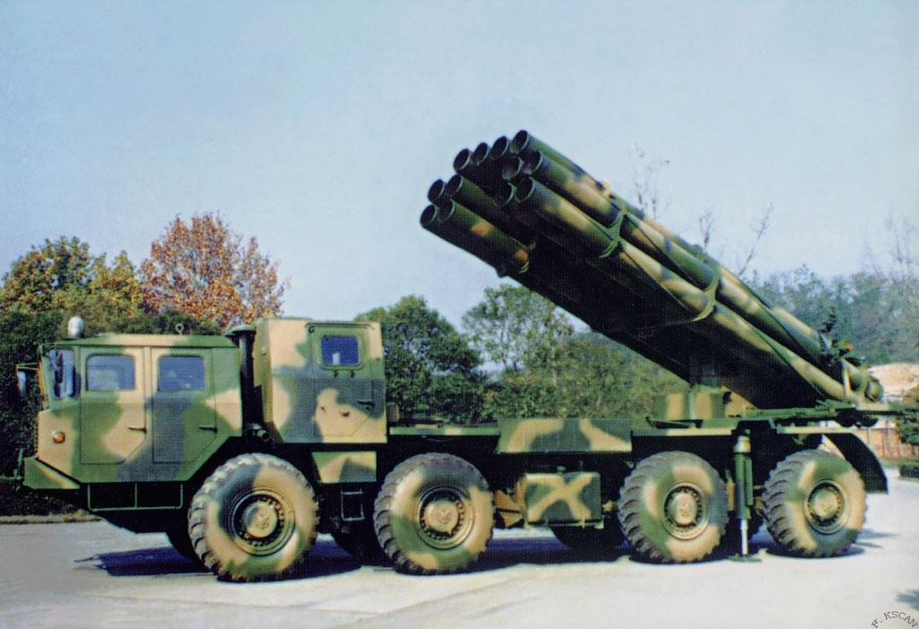 远程火箭炮图片_朝鲜试射远程火箭炮目标设在内陆不顾忌失败
