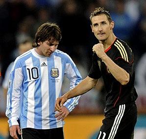 德国克洛泽与阿根廷梅西