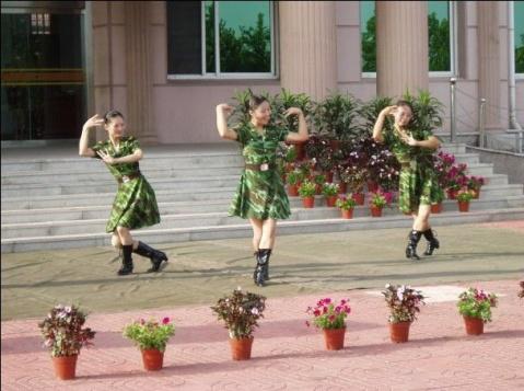 女兵风采----慰问演出的漂亮女兵 - 披着军装的野狼 - 披着军装的野狼