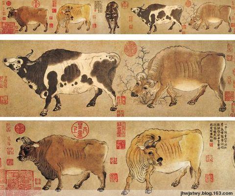 唐代畫家韓滉《五牛圖》的故事 - 獨釣香江月 - 獨釣香江月的博客