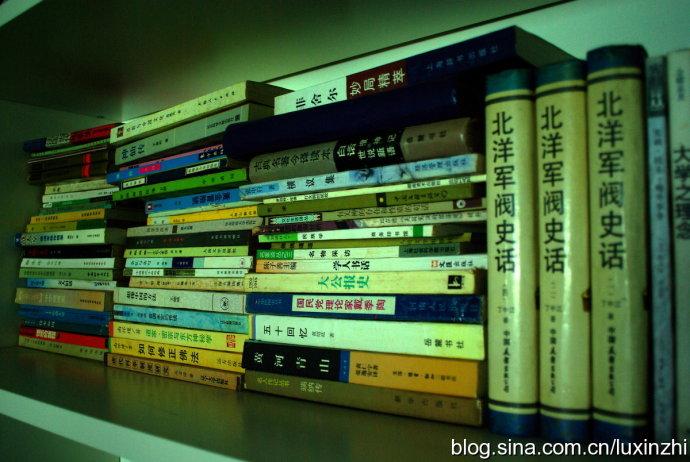 假期第一天,事情挺多,偷空上一张书架照片 - 陆新之 - 陆新之的博客