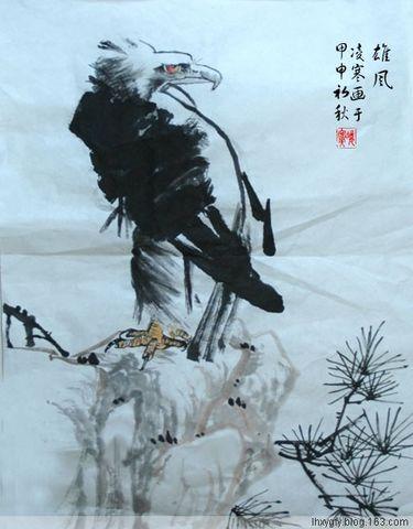 国画--花鸟小品 - 凌寒 - 梅影清溪