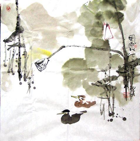 引用  醉人和红柳 【疏勒河的红柳原创】 - 關中醉人 - 关中醉人花鸟画