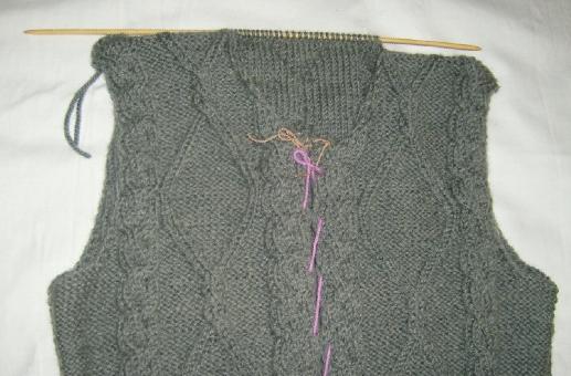 我织的灰色带帽大毛衣--图解 - 停留 - 停留编织博客