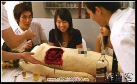 无耻的日本人 竟然吃女人