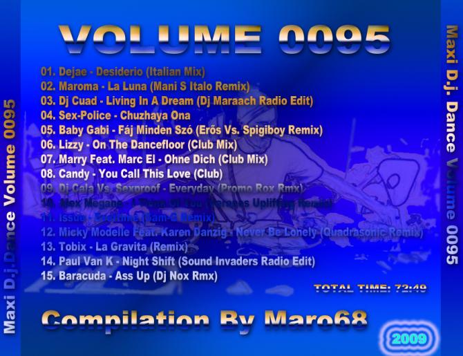 MAXI D.J. DANCE VOL.0095 (New Dance) - 意大利铁匠 - 分享劲爽节奏--XINBO21