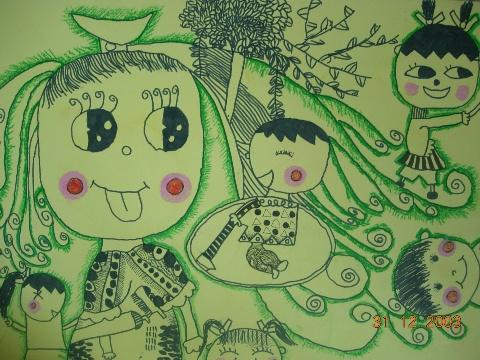 蜡笔水粉画作品   幼儿剪贴画作品   儿童线描作品   他们的