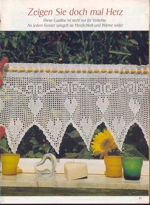 [钩针]漂亮的窗帘花样与图解