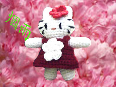 这是我刚钩好的凯蒂猫(上图解) - 烟雨 - 愿友谊盛开 永恒!