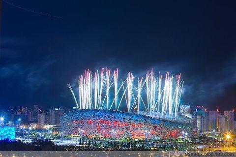 奥运鸟巢上空的烟花 - 天天快乐 - 天天快乐