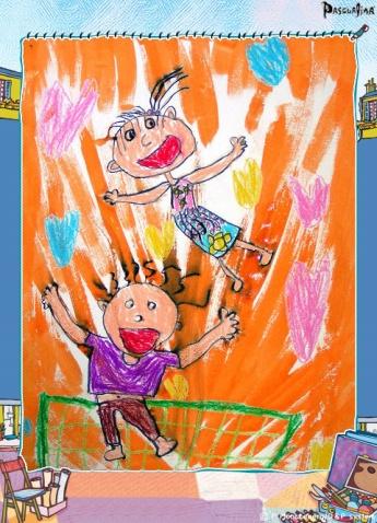 快乐蹦床 - 常州七彩城堡少儿美术工作室 - 七彩城堡