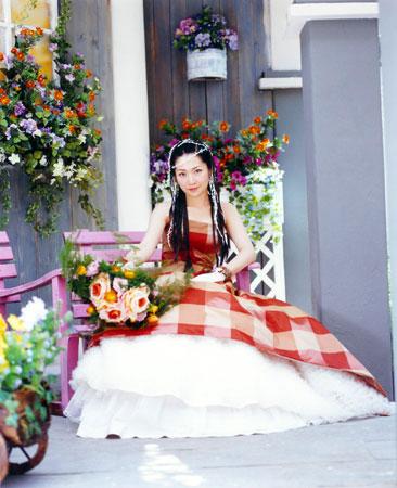 关心妍婚纱图 - 水无痕 - 明星后花园