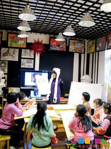 童画童心08秋季高级班美术活动14——人物头像写生 - 童画-童心儿童美术 - 童画-童心儿童美术