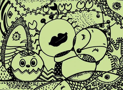 【引用】儿童线描画(创意联想)