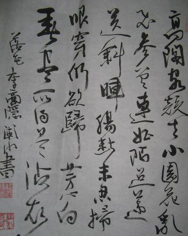 草书:李商隐落花 - 江南雨荷 - 江南雨荷