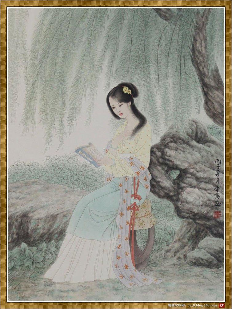 佳人入画中 - 水中水的日志 - 网易博客 - 梅林之士 - 梅林之士