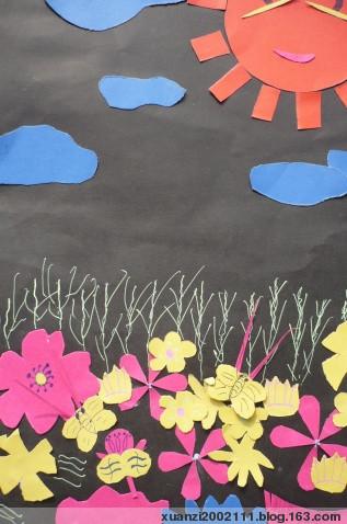 幼儿园瓜子壳贴画作品图片