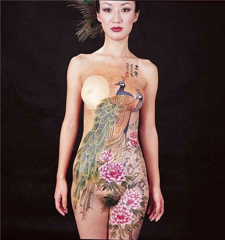 人体彩绘 - 灵岩叠翠 - 灵岩叠翠