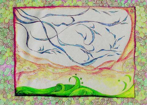 芳草天涯(铅笔水彩插画) - 会笑的蜻蜓 - 会笑的蜻蜓