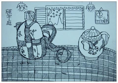 【转载】猫/壶写生/风景画 - miumiu - miu 的唯美田园·幼儿美术