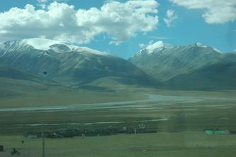 西藏风景(列车行进在青藏高原--13) 2007年10月13日