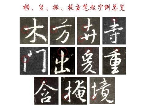 王羲之《圣教序》原帖笔画起笔规律分析- 無為居士 - 聚美齋