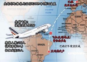 法航飞机失事 二百多人遇难