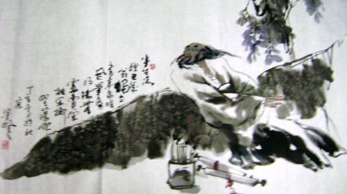 魏武双的人物画作品(12幅)    064 - 勇敢的人 - 中国国际美术品交流与收藏