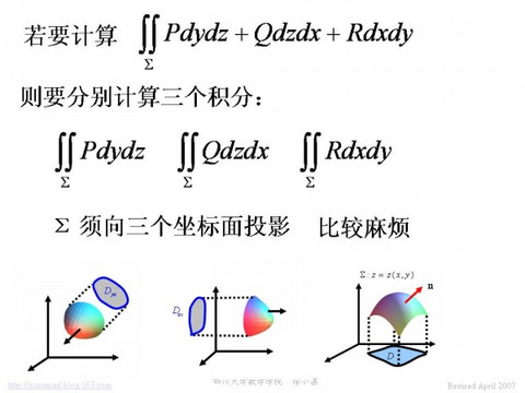 """专题讲解:什么是对坐标的曲面积分的""""三合一""""公式? - calculus - 高等数学"""