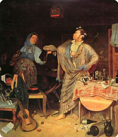 【原】关于苏俄绘画的扎记(图) - 听雨楼主人 - 郭万仕·骏马秋风