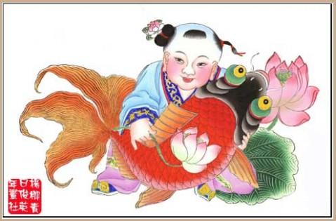 春牛图   杨柳青年画产于天津市郊的杨柳青镇图片