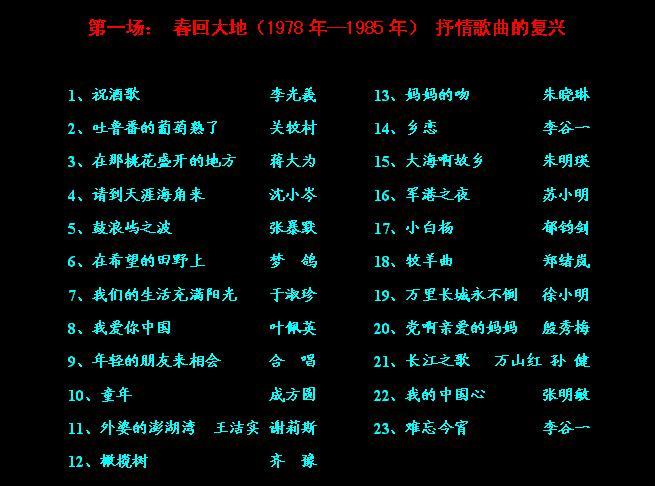 歌声飘过30年——百首金曲演唱会【珍藏版】 - yuanming1956 - yuanming1956的博客