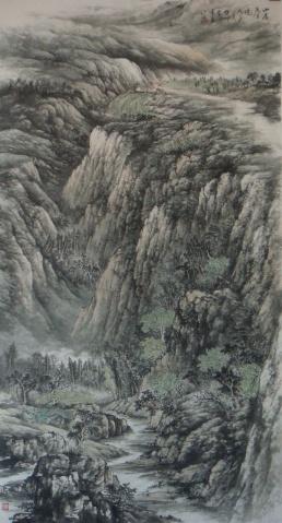(原创)《山居春晓》最新作品 - 云石斋主 - 山水画家张怀勇(云石斋主)的博客