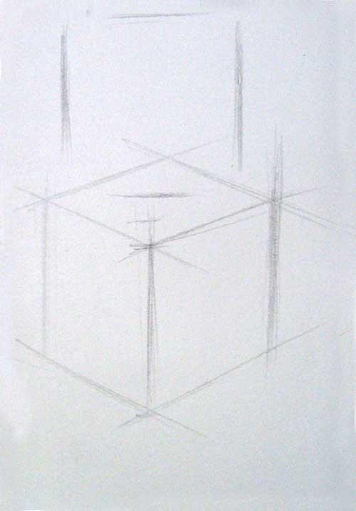 素描教程(十三)画石膏几何体-方体和球体