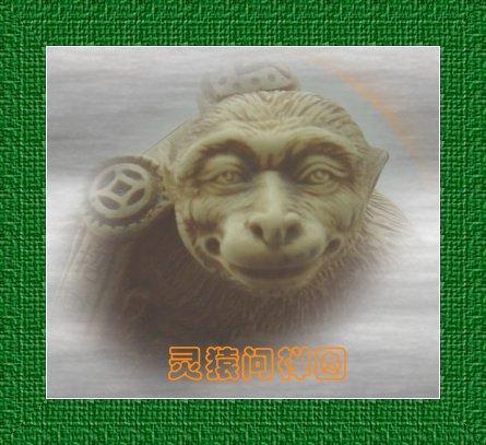 灵猿问禅图 - 风情一剑 - 風情一劍的靜思世界