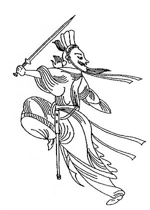 不仅男子,女人也善舞剑图片
