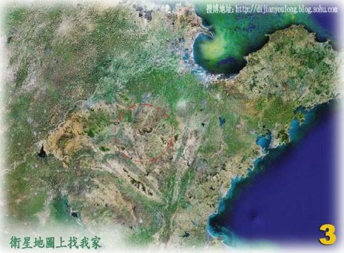 透过卫星云图看我家图片