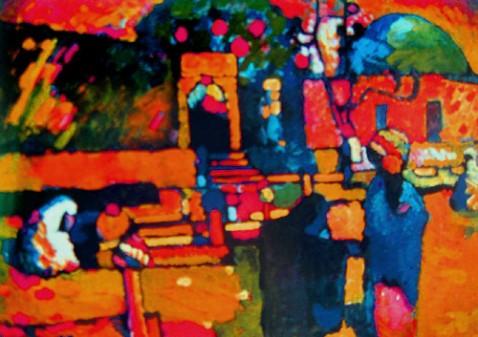 介绍 抽象派画家康定斯基的画 罗非 罗非博客 高清图片