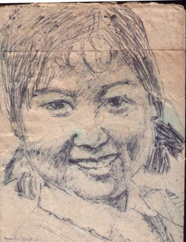 30年前的一张自画像 - 何鸣芳 - 何鸣芳的版画藏书票博客