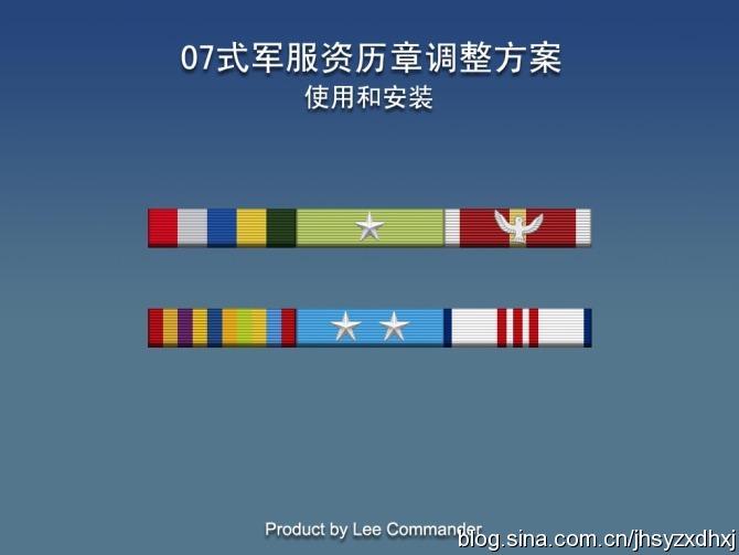 07式军服资历章改进方案图片