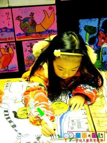 童画童心08秋季启蒙B-1美术活动15——娃娃洗头发 - 童画-童心儿童美术 - 童画-童心儿童美术