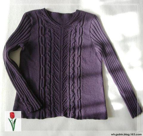 深紫V领 - 红色郁金香 - 我的博客