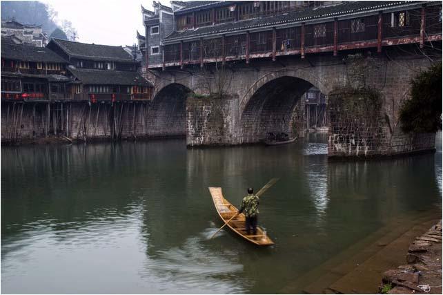 [原]湘西·凤凰古城·虹桥 - Tarzan - 走过大地