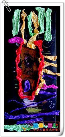 童画童心08秋季小小B班美术活动14——非洲美女 - 童画-童心儿童美术 - 童画-童心儿童美术