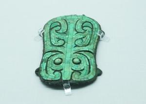 绿松石龙形器的细节。