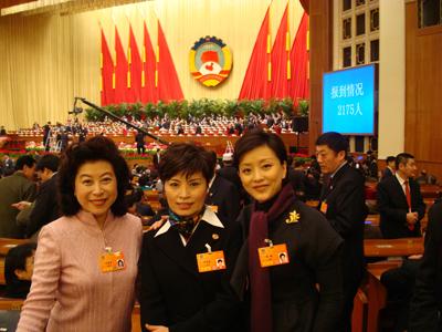 【分享图片】政协会上老友相见 - yanglan2008329 - 杨澜