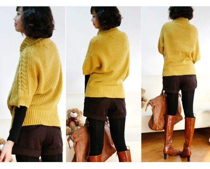 极为暖和的韩版棒线毛衣 - a开心快乐的英子 - 开心快乐的英子欢迎您
