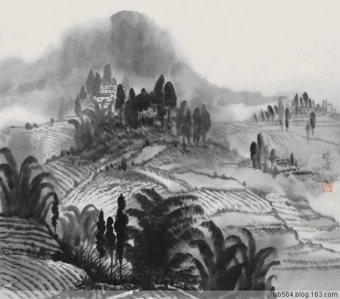 卢晓波《水墨家乡》写生作品 - 卢晓波 - 卢晓波的博客